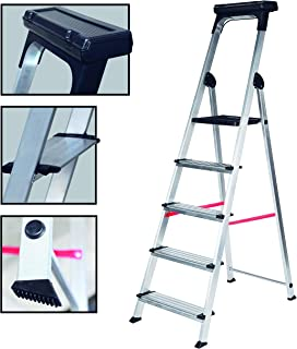 comprar comparacion Escalera Ancha de Aluminio ELITE PLUS (5 Peldanos). BTF-TJB405