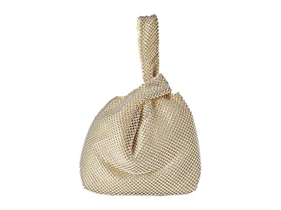 Jessica McClintock Logan Ball Mesh Pouch (Light Gold) Handbags