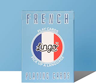 Lingo Playing Cards | Language Learning Game Set | Fun Visual Flashcard Deck to Increase Vocabulary and Pronunciation Skills - 54 Useful Phrases