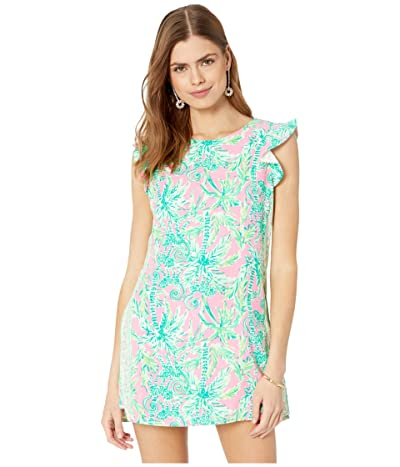 Lilly Pulitzer Adda Romper (Prosecco Pink Hangin Around Engineered) Women