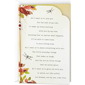 Hallmark Love Card or Anniversary Card (Love You for The Rest of My Life)