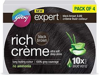 Godrej Expert Rich Crème Hair Colour Shade 3 BLACK BROWN, Pack of 4