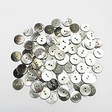 黒蝶貝ボタン 15mm 2穴 ジャケット袖口 カーディガンに最適 100個入り KUROCHOSARA-15-BK-013