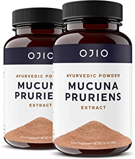 OJIO Mucuna Pruriens Pure Extract Powder 1,200 MG | Promotes Mood | Brain Health | Boosts Energy is Vegan and 15% L-Dopa |...