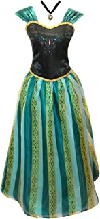 Adult Womens Frozen Anna Coronation Dress Elsa Costume Princess and Accessories
