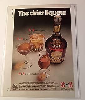1972 B & B Cognac The Drier Liqueur Magazine Print Advertisement