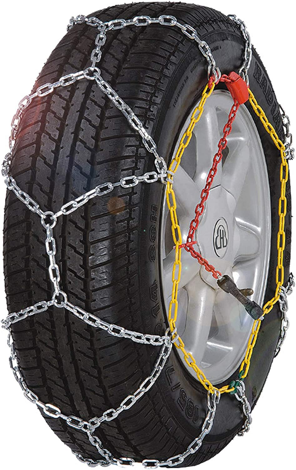 BaiYouDa Alloy Snow Chain Wear Resistant Tire Chain for Cars KN100 Minivans-Set of 2 SUVs