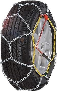 BaiYouDa Alloy Snow Chain Wear Resistant Tire Chain for Cars,SUVs,Minivans-Set of 2(KN130): image