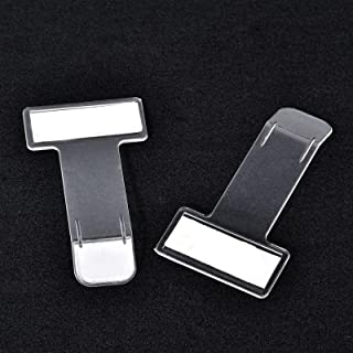 Set van 2 parkeerkaarthouders, zelfklevende transparante ticketclips voor de voorruit van de auto, zelfklevend, transparant