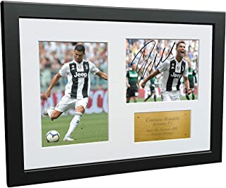 Kitbags & Lockers 12x8 Cristiano Ronaldo Juventus FC Signed Autographed Photo Photograph Picture Frame Soccer A4 Gift