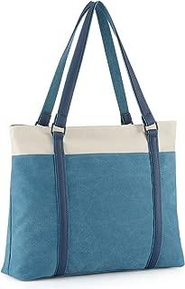 """Plambag Canvas Laptop Tote Bag 15.6"""" Work Shopper Shoulder Handbag for Women"""