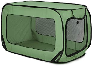 Love's cabin 36in Portable Large Dog Bed - Pop Up Dog Kennel, Indoor Outdoor Crate for Pets, Portable Car Seat Kennel, Cat...