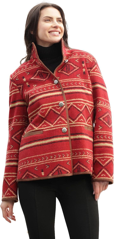 Womens Multicolor Americana Print Jacket