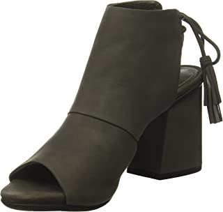 Kenneth Cole REACTION Women's Reach The Stars Peep Toe Bootie, Flared Heel Ankle Lacing-Nubuck