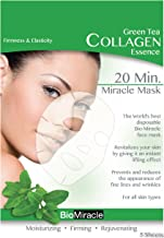 Bio-Miracle Anti-Aging and Moisturizing Face Mask, Green Tea, 5 Count