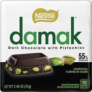 damak Dark Chocolate with Pistachios, 12 Count