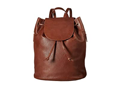 Scully Cloe Leather Backpack (Tan) Backpack Bags