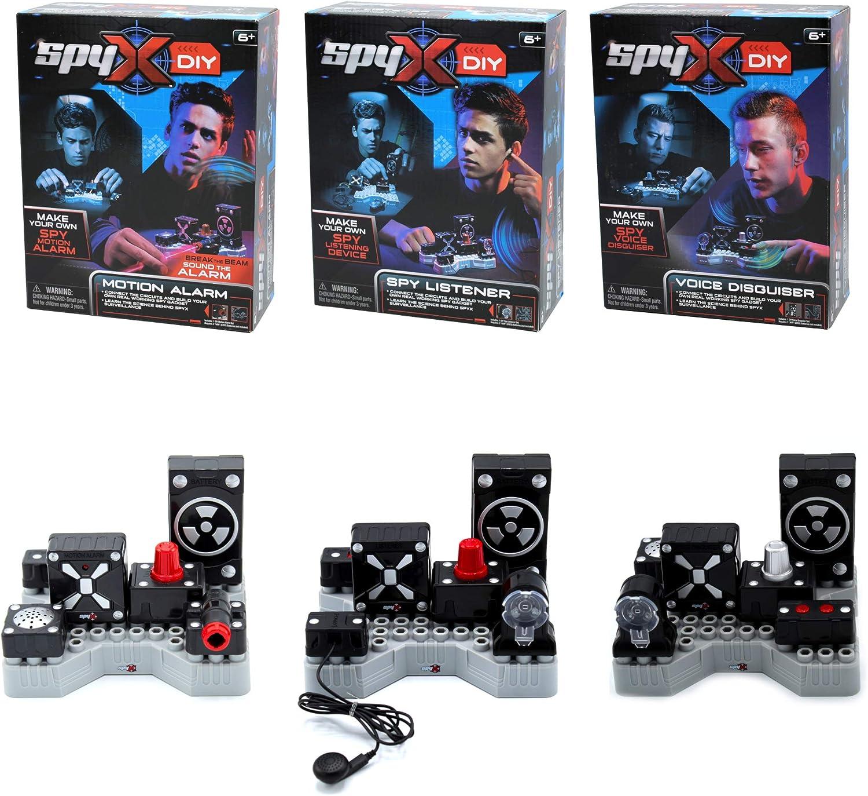 SpyX DIY Motion Alarm + Spy Philadelphia Mall Listener Bargain Disguiser. Make Voice You