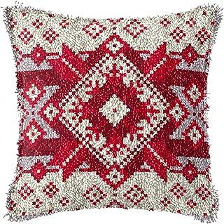 Crochet de loquet Kit de Bricolage Coussin d'oreiller Handraft imprimé Christmas Snowflake Floke Broderie Ensemble Crochet...