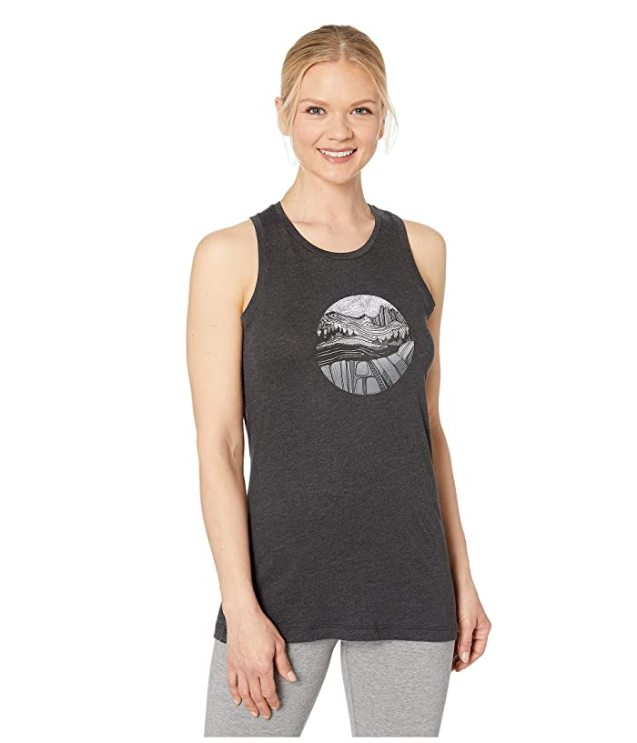 Columbia Sandy Trailtm Graphic Tank Top (Black Heather) Women