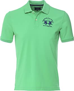 La Martina Men's Regular Fit Pique Polo Shirt Green