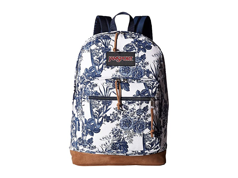 JanSport Right Pack Expressions (White Artist Rose) Backpack Bags