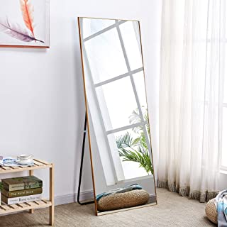 "Rose Home Fashion Aluminum Alloy Thin Frame-65 x22"", Floor Mirror, Standing Mirror, Full Length Mirror, Large Mirror, Floor Length Mirror, Gold Mirror, Gold Frame"