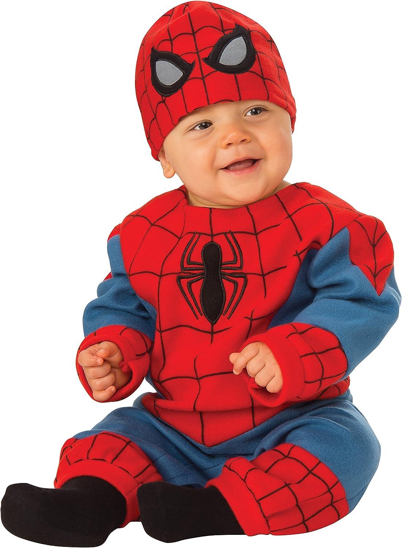 Marvel Spiderman Baby Boys/' Costume Long Sleeve Bodysuit and Cap Set Blue