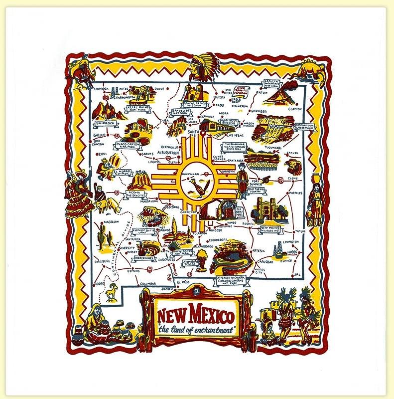 Redandwhitekitchen New Mexico State Souvenir Dish Towel