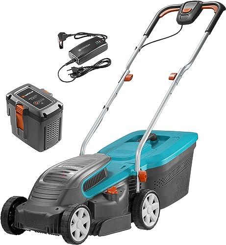 GARDENA Tondeuse Electrique Sans Fil à Batterie PowerMax Li-40/32   Kit avec Batterie et Chargeur - Batterie 40 V, La...