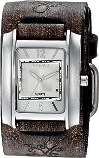 [ネメシス] Nemesis 腕時計 Women's 'Square in Square Series' Quartz Stainless Steel and Leather Automatic Watch, Color:Brown 日本製クォーツ DBVFB013S レディース 【並行輸入品】