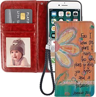 Pingge iPhone 7 Plus Case iPhone 8 Plus Wallet Case Holy Bible Lightweight Slim Shockproof Cellphone Case Cover with Card Slots Kickstand for iPhone 7 Plus Case iPhone 8 Plus 1 Pack