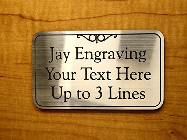 Custom Engraved 3x5 Office Suite Sign Plaque Brushed Gold Silver Or Copper Adhesive Back Personalized Home Business Unit Apartment Signs Plaques Placard ADA Customized Plate Tag Brushed Silver