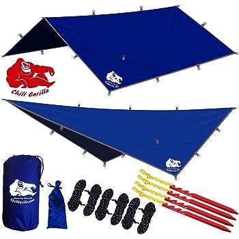 LYN Outfitters Hammock Rain Fly Tent Tarp,Housefly Rain Tarp,Rainfly Heat Preservation,Shade ,4 Doors ,Waterproof and Tear Resistant Ultra-Light,Perfect Hammock Tent