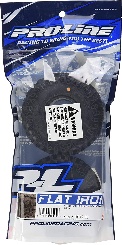 Proline 1011200 Flat Iron 1.9 XL G8 Rock Terrain Truck Tire with Memory Foam Inserts (2 Piece)