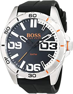 Hugo Boss Orange Berlin Men's Black Dial Silicone Band Watch - 1513285