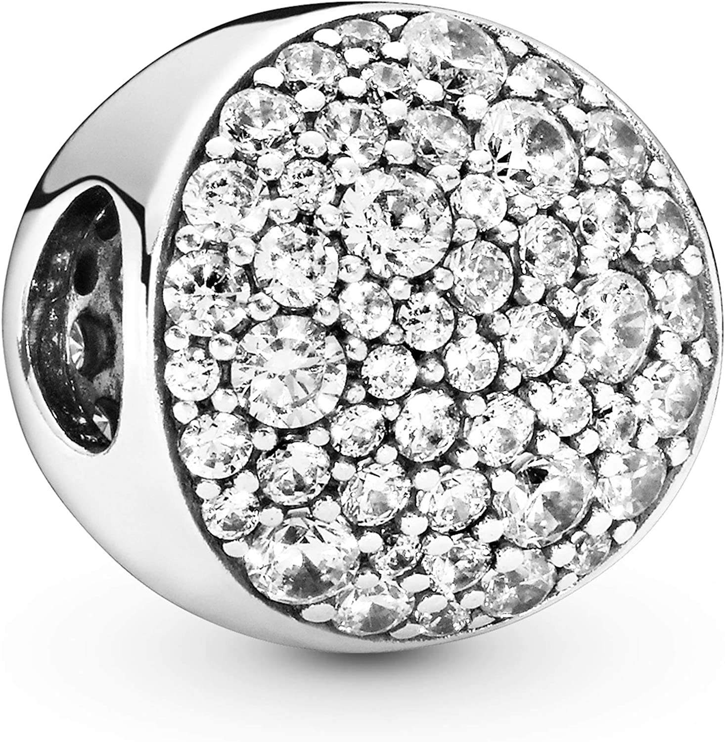 Pandora Jewelry lowest price Pave Sphere Cubic in Sil Charm Zirconia Sterling High order