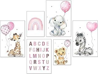 artpin® Poster Set DIN A3 Bilder Kinderzimmer Deko Mädchen