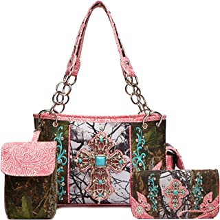 Cowgirl Trendy womens Women's Western Style Handbags With Wallet Set