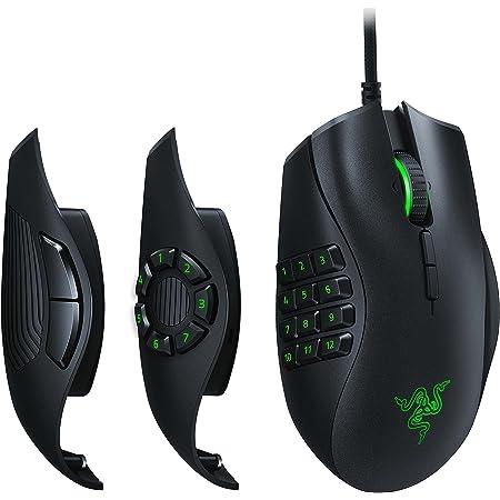 Razer Naga TrinityRatón para Juegos MOBA/MMO, Ratón Gaming, 3 Placas Laterales Intercambiables, Sensor Óptico de 5G de 16 000 PPP, hasta 19 Botones Programables, Negro