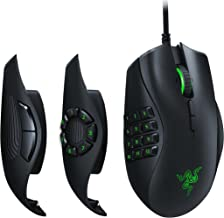 Razer RZ01-02410100-R3M1 Naga Trinity Chroma MMO Gaming Mouse , Up to 19 Programmable buttons- Interchangeable Side, Black