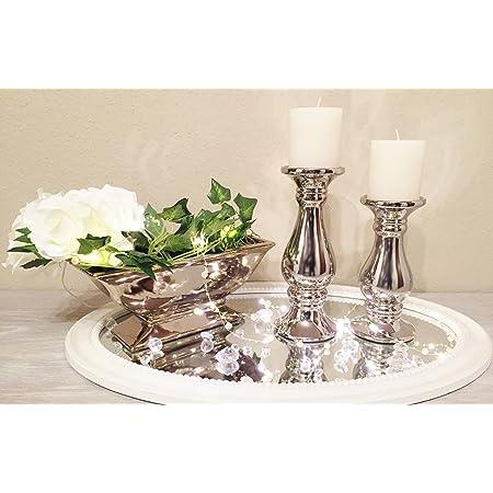 Kerzenhalter Glas 15cm 20cm Kerzenständer Dekoration Tischdeko Hochzeit Weihnach