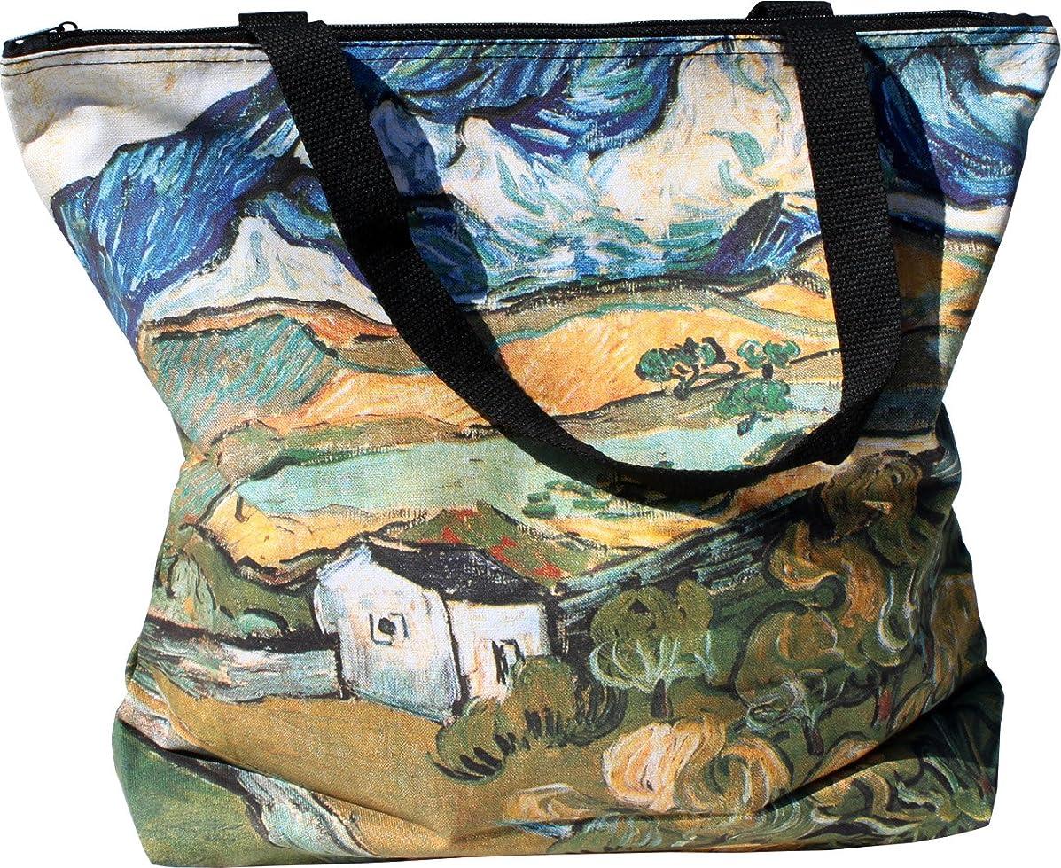 RaanPahMuang Large Shopping Tote Bag Cloudy Farmland by Vincent Van Gogh
