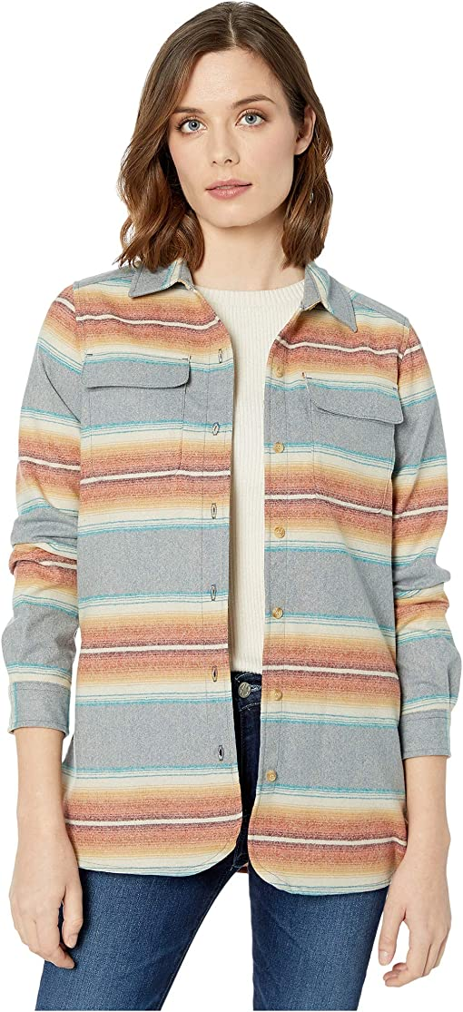 Slate Blue/Gold Serape Stripe
