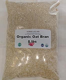 Oat Bran 8 Pounds Ground Fine, USDA Certified Organic Non-GMO Bulk
