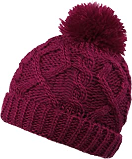 ce6b38d0502 YoungLove Kids Winter Cable Knit Pom Pom Beanie Winter Hat for Boys/Girls-  Assorted
