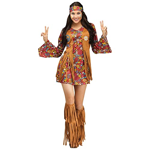 Fun World Womens Peace Love Hippie Costume