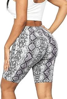 Nihsatin Womens Sexy Animal Prints Yoga Shorts High Waist Briefs Panties Hipster Boyshort