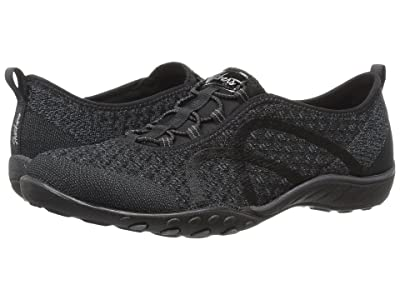 SKECHERS Breathe-Easy Fortuneknit (Black) Women