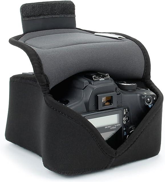 USA Gear Funda De Cámara Digital | Estuche Semipermeable Para Cámara Reflex  | Bolsa Protectora DSLR Para Nikon Canon EOS Sony Alpha y Accesorios